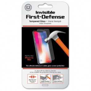 Qmadix Invisible First-Defense+ Tempered Glass iPhone XS Max