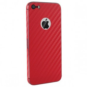 BodyGuardz Armor Carbon Fiber Full Body (Red) iPhone 5