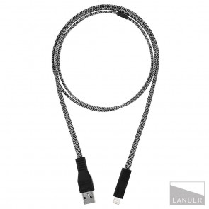 Lander Neve USB to Lightning Cable 1m Black