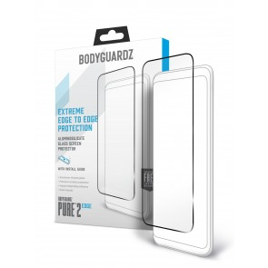 BodyGuardz Pure 2 Edge for iPhone Xs Max- Edge to Edge Glass Screen Protector