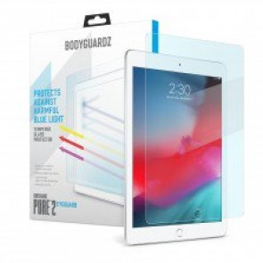 BodyGuardz Pure 2 Eyeguard Glass Screen Protector Blue Light, Apple iPad Pro 9.7/ iPad 9.7/iPad Air/iPad Air 2