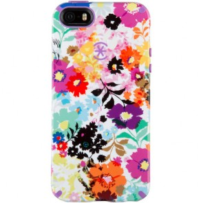 Speck iPhone 5/5s/SE CandyShell Inked BoldBlossoms White/Revolution Purple