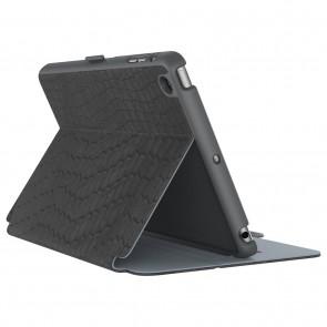Speck iPad Mini 4 StyleFolio Luxe Faux Snake Black/Nickel Grey/Slate Grey