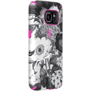 Speck Samsung Galaxy S7 CandyShell Inked Vintage Bouquet Grey/Shocking Pink
