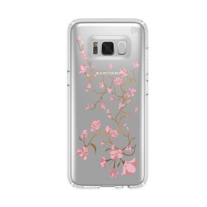 Speck Samsung Galaxy S8 Presidio Clear + Print - GoldenBlossoms Pink/Clear