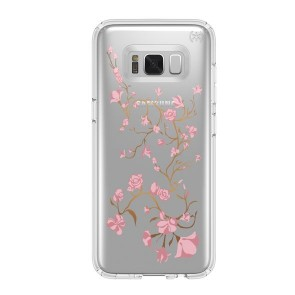 Speck Samsung Galaxy S8+ Presidio Clear + Print - Goldenblossoms Pink/Clear