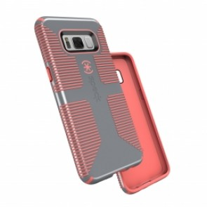 Speck Samsung Galaxy S8 CandyShell Grip Nickel Grey/Warning Orange