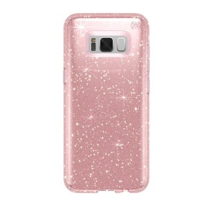 Speck Samsung Galaxy S8+ Presido Clear + Glitter Rose Pink with Gold Glitter/Rose Pink