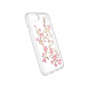 Speck iPhone 8/7/6/6S Presidio Clear + Print - Goldenblossoms Pink/Clear