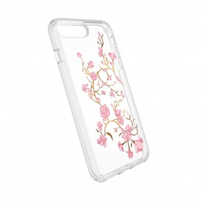 Speck iPhone 8 Plus/7 Plus/6 Plus/6S Plus Presidio Clear + Print - Goldenblossoms Pink/Clear