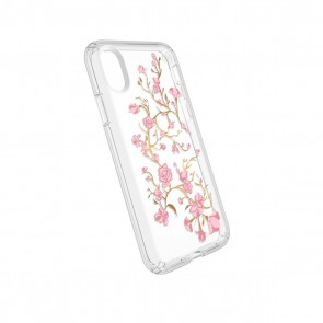 Speck iPhone X Presidio Clear + Print - Goldenblossoms Pink/Clear