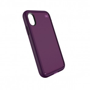 Speck iPhone X Presidio Ultra - Mangosteen Purple/Hibiscus Pink/Eggplant Purple