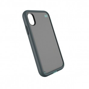 Speck iPhone X Presidio Ultra - Sand Grey/Surf Teal/Mountainside Grey