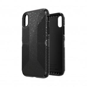 Speck iPhone XR PRESIDIO GRIP + GLITTER OBSIDIAN BLACK WITH SILVER GLITTER/BLACK
