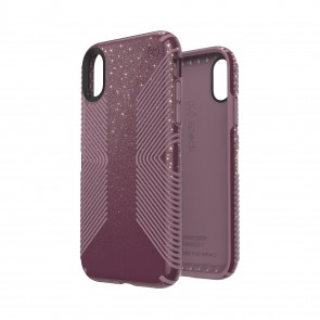 Speck iPhone XR PRESIDIO GRIP + GLITTER STARLIT PURPLE WITH GOLD GLITTER/CATTLEYA PINK