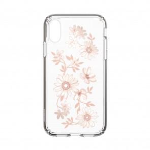 Speck iPhone XR PRESIDIO CLEAR + PRINT FAIRYTALEFLORAL PEACH GOLD/CLEAR