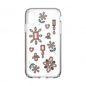 Speck iPhone XR PRESIDIO CLEAR + PRINT DANCINGDIAMONDS PEACH GOLD/CLEAR