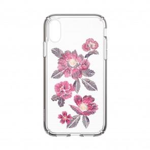Speck iPhone XR PRESIDIO CLEAR + PRINT EMBROIDEREDFLORAL FUCHSIA/CLEAR