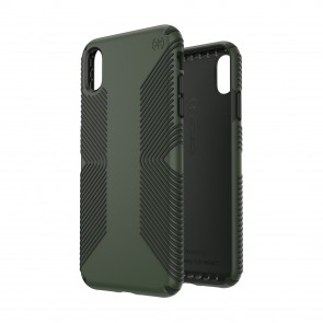 Speck iPhone Xs Max PRESIDIO GRIP DUSTY GREEN/BRUNSWICK BLACK