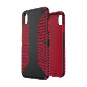 Speck iPhone Xs Max PRESIDIO GRIP BLACK/DARK POPPY RED