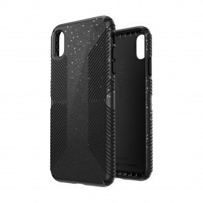 Speck iPhone Xs Max PRESIDIO GRIP + GLITTER OBSIDIAN BLACK WITH SILVER GLITTER/BLACK