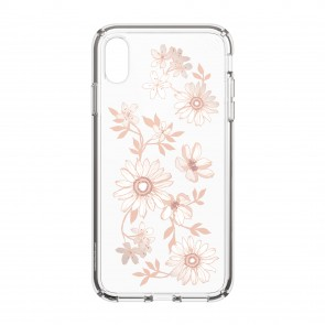 Speck iPhone Xs Max PRESIDIO CLEAR + PRINT FAIRYTALEFLORAL PEACH GOLD/CLEAR