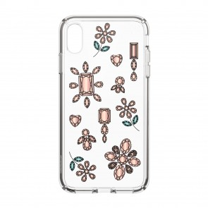 Speck iPhone Xs Max PRESIDIO CLEAR + PRINT DANCINGDIAMONDS PEACH GOLD/CLEAR