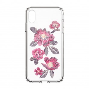 Speck iPhone Xs Max PRESIDIO CLEAR + PRINT EMBROIDEREDFLORAL FUCHSIA/CLEAR