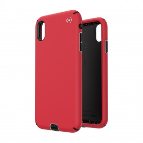 Speck iPhone Xs Max PRESIDIO SPORT HEARTRATE RED/SIDEWALK GREY/BLACK
