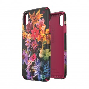 Speck iPhone Xs Max PRESIDIO INKED DIGITAL FLORAL/CERISE RED