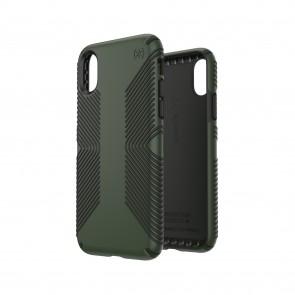 Speck iPhone X/Xs PRESIDIO GRIP DUSTY GREEN/BRUNSWICK BLACK