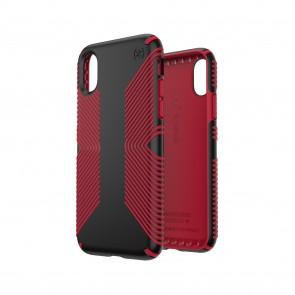 Speck iPhone X/Xs PRESIDIO GRIP BLACK/DARK POPPY RED