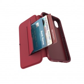 Speck iPhone X/Xs PRESIDIO FOLIO LEATHER ROUGE RED/GARNET RED/CURRANT JAM RED