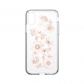 Speck iPhone X/Xs PRESIDIO CLEAR + PRINT FAIRYTALEFLORAL PEACH GOLD/CLEAR