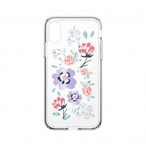 Speck iPhone X/Xs PRESIDIO CLEAR + PRINT CANOPYFLORAL LAVENDER/CLEAR