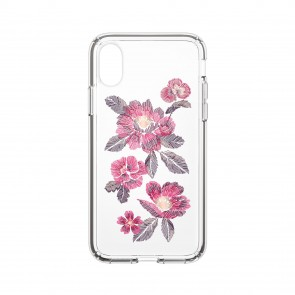 Speck iPhone X/Xs PRESIDIO CLEAR + PRINT EMBROIDEREDFLORAL FUCHSIA/CLEAR