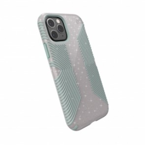 Speck iPhone 11 Pro Max PRESIDIO GRIP + GLITTER (WHITESTONE GREY GLITTER/BLUE)