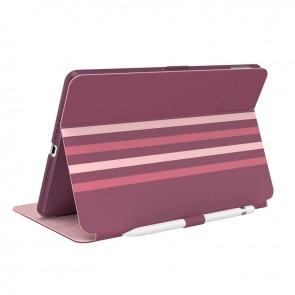Speck iPad 10.2 9th/8th/7th Gen Balance Folio Print with Microban - Crimson Forest Stripes/Lush Burgundy