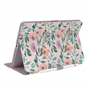 Speck iPad 10.2 9th/8th/7th Gen Balance Folio + Print (with Microban) - Watercolor Roses/Washed Lilac