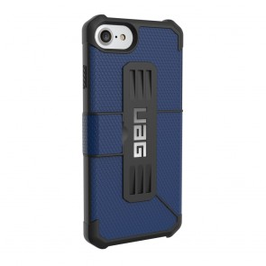 UAG Apple iPhone 6 / iPhone 6s / iPhone 7 / iPhone 8 Metropolis Folio Wallet Case - Cobalt And Black