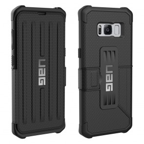 UAG Samsung Galaxy S8 Metropolis Folio Wallet Case - Black And Black