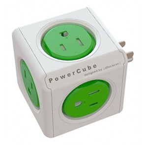 Allocacoc PowerCube Original SURGE  GREEN