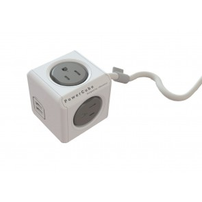 Allocacoc PowerCube Extended USB SURGE  GREY