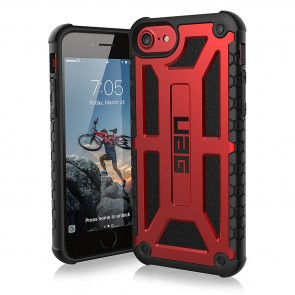 UAG Apple iPhone 6 / iPhone 6s / iPhone 7 / iPhone 8 Monarch Case - Crimson And Black