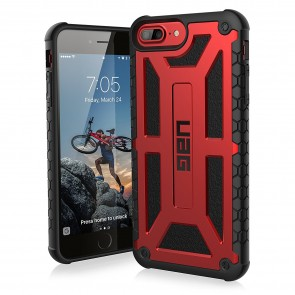 UAG Apple iPhone 6 Plus / iPhone 6s Plus / iPhone 7 Plus / iPhone 8 Plus Monarch Case - Crimson And Black