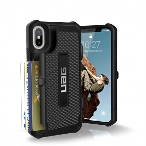 UAG Apple iPhone X Trooper Card Case - Black