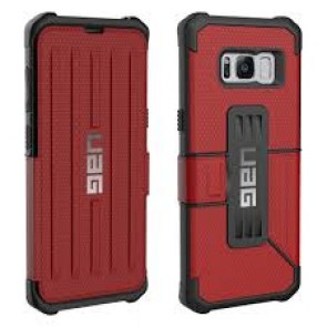 UAG Samsung Galaxy S8 Metropolis Folio Wallet Case - Magma And Black
