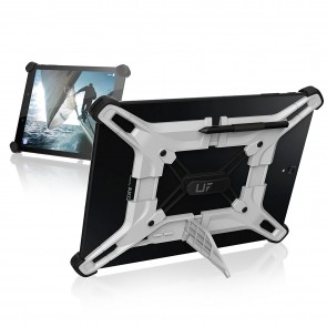 UAG Exoskeleton Adjustable Universal Tablet Case - Fits Most Large Android Tablets (up To 10in) - White And Black