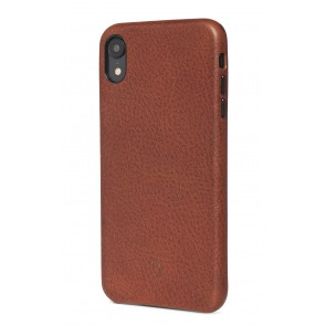 Decoded Leather Back Cover for iPhone XR (6.1 inch) Cinnamon Brown