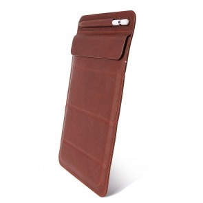DECODED Leather Foldable Sleeve for iPad Mini 1-6th Gen Brown Oak